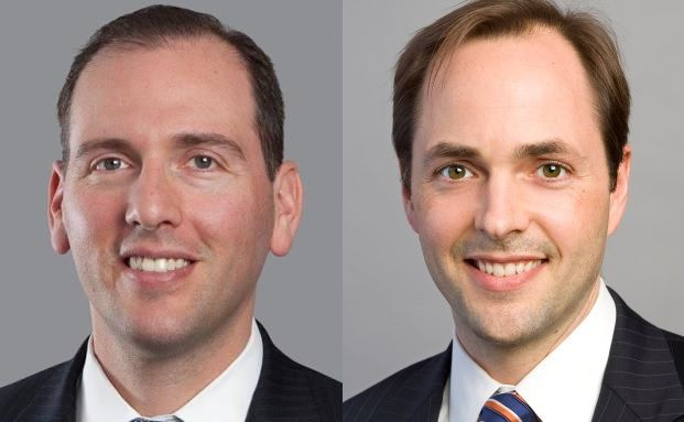Daniel Loewy (links), CIO und Co-Head of Multi-Asset Solutions und Morgan Harting (rechts), Lead Portfolio Manager für Multi-Asset Income Strategien bei AB