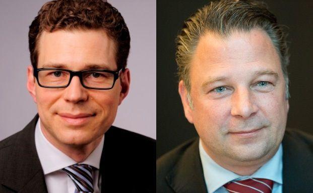 Stefan Fritz (links), Leiter des Stiftungsmanagements der Hypovereinsbank/Unicredit Bank, und Jörg Seifart, Gründer und Geschäftsführer der Gesellschaft für das Stiftungswesen