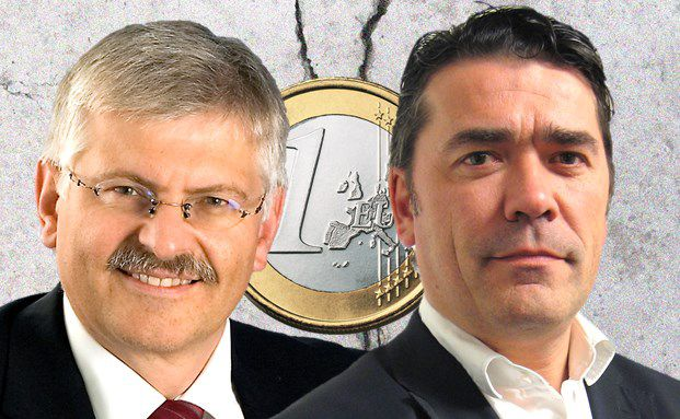 In Sachen Euro verschiedener Meinung: Gottfried Urban, Manager des NV Strategie Emerging Plus und Peter De Coensel, Manager des Petercam Bonds Universalis