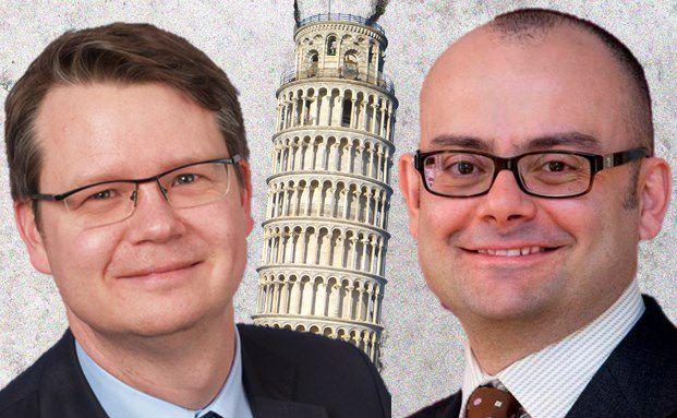 Gegensätzlicher Meinung zum Thema Euro-Peripherie-Anleihen: Michael Merz, Co-Manager des Starcapital Argos, und Mauro Valle, Manager des Generali Euro Bonds