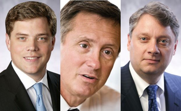 Pimco Manager: Andrew Balls, Chief Investment Officer Global Fixed Income, Richard Clarida, Global Strategic Advisor und Daniel Ivascyn, Group Chief Investment Officer (von links nach rechts).