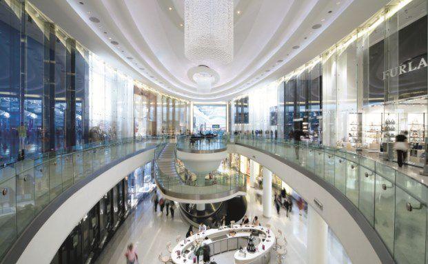 Das Shopping-Center Westfield in London, ein Beispiel für Handelsmodelle der Zukunft. Foto: Commerz Real AG