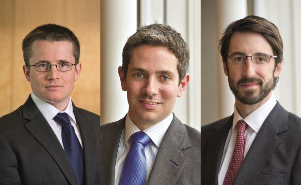 Schroders Fondsmanager Andrew Lyddon, Kevin Murphy und Nick Kirrage (von links nach rechts)