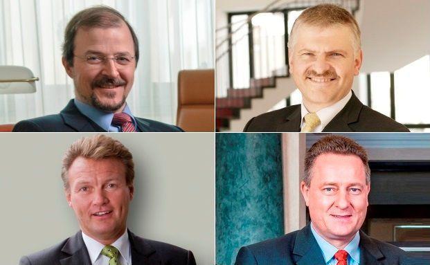 Vier auf Wikifolio.com tätige Vermögensverwalter: Stephan Albrech (oben links), Gottfried Urban (o.r.), Klaus Hinkel (u.r.) und Uwe Eilers