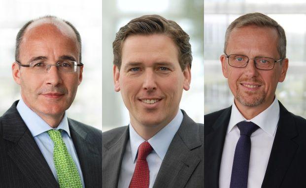 Von links: Markus Rehle, Tobias Warweg und Stefan Eversberg. Foto: HDI / Axa