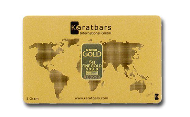 Dieser Karatbars-Goldbarren im Scheckkartenformat kostet rund 226 Euro.