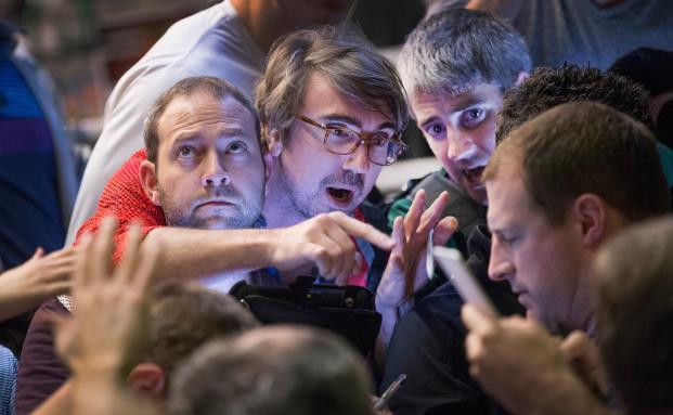 Börsenmakler handeln an der Chicago Board Options Exchange. (Foto: Getty Images)