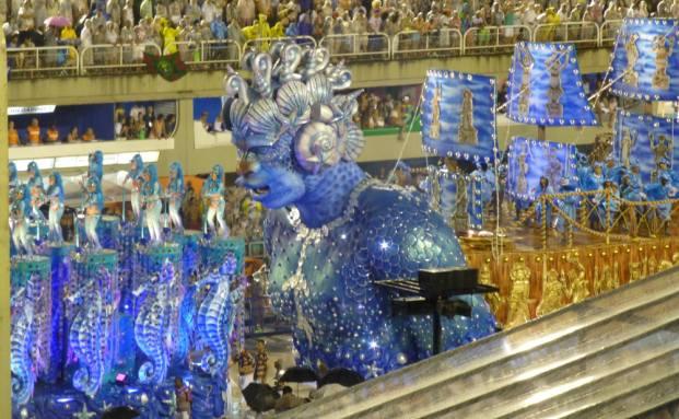 Sambodrome in Rio de Janeiro im Februar 2015: Hier findet der Karneval auch in diesem Jahr statt, andere Städte haben den Umzug der Samba-Schulen aus Kostengründen abgesagt. Foto: Svetlana Kerschner