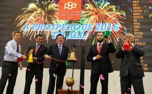Anleger starten den ersten Handelstag im Jahr 2016 an der Philippine Stock Exchange in Manila. (Bild: Getty Images)