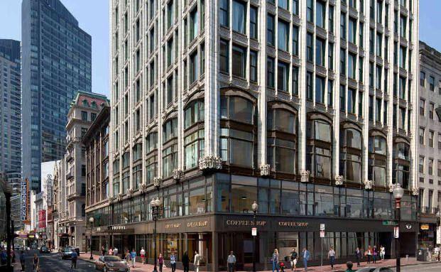 Einstieg in den USA: Für knapp 165 Millionen Euro kauften die Hamburger 2015 das Godfrey Hotel in Boston. Foto: Union Investment Real Estate