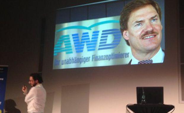 Fairr-Mitgründer Alexander Kihm präsentierte einen Pitch auf humorvolle Weise vor dem Publikum. Foto: Twitter