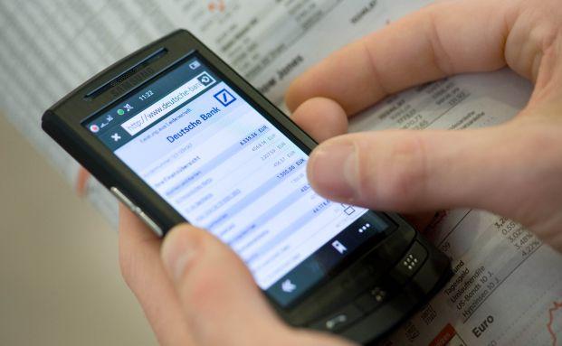 Auch die Deutsche Bank ermöglicht Mobile Banking.