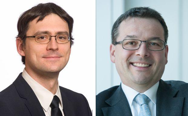 Lasse Paulus (l.) ist für die Unternehmenskommunikation der Örag Rechtsschutzversicherung zuständig. Rechtsanwalt Ralph Sauer ist Pressesprecher der Dr. Stoll & Sauer Rechtsanwaltsgesellschaft.