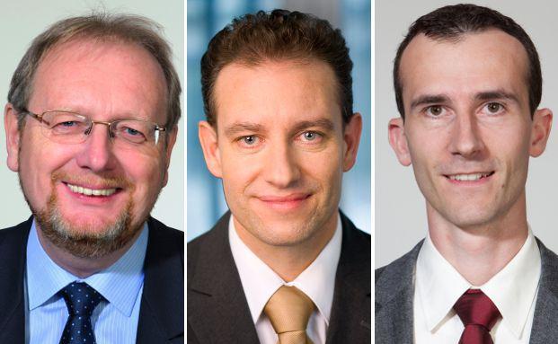 Bei Starcapital ist Peter E. Huber (Foto links) für die Aktien-, Anleihen- und vermögensverwaltenden Fonds verantwortlich, Markus Kaiser (Mitte) für die ETF-Strategien. Die Kapitalmarktforschung leitet Norbert Keimling.