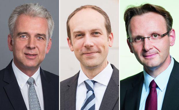 Die Fondsmanager im Interview von links: Marius Hoerner (Hinkel & Cie. Vermögensverwaltung), Benedict Braus (Inprimo Invest) und Dirk Viebahn (Monega Kapitalanlagegesellschaft).