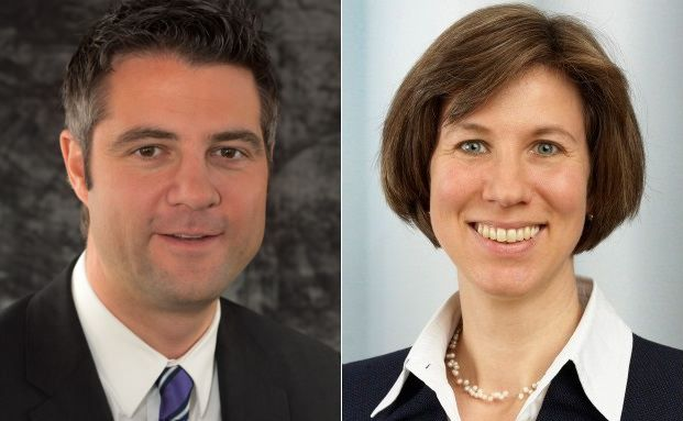 Kennen sich aus mit der Beratung von Profi-Sportlern: Martin Eckert (Bankhaus Donner & Reuschel) und Dr. Claudia Klümpen-Neusel (Warth & Klein Grant Thornton)