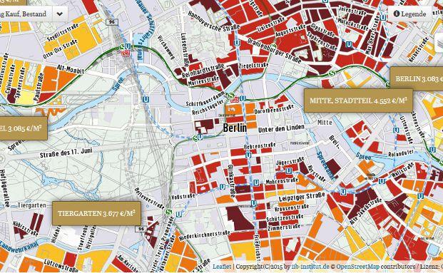 Der Capital Immobilien-Kompass liefert Transparenz in Bezug auf Preise und Wertentwicklung in den Immobilienm&auml;rkten der zehn gro&szlig;en deutschen St&auml;dte Berlin, Dresden, D&uuml;sseldorf, Essen, Frankfurt, Hamburg, K&ouml;ln, Leipzig, M&uuml;nchen und Stuttgart. Foto: Screenshot <a href='http://immobilien-kompass.capital.de/' target='_blank'>Capital Immobilien-Kompass</a>