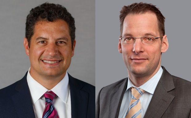 Roger Cozzi (links), CIO des Bereichs Commercial Real Estate Debt bei AB und Martin vom Hagen (rechts), Geschäftsführer von AB