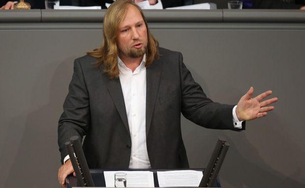 Anton Hofreiter, Co-Fraktionsvorsitzender von Bündnis 90/Die Grünen, bei einer Debatte im Bundestag. Foto: Getty Images