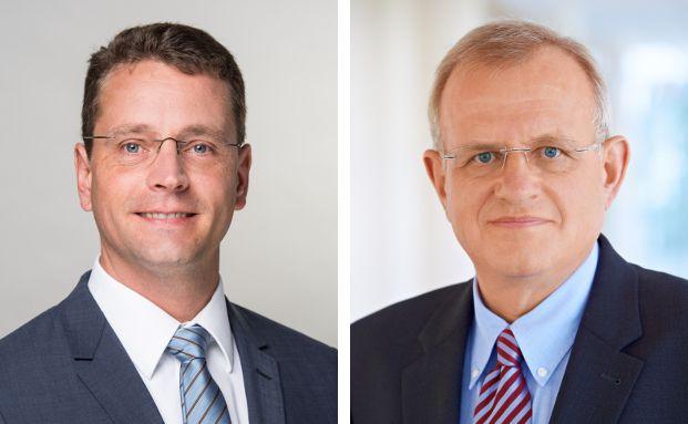 Niels Nauhauser (l.) ist Finanzexperte der Verbraucherzentrale Baden-Württemberg. Rüdiger Grimmert ist Sprecher Postbank für den Geschäftsbereich BHW.