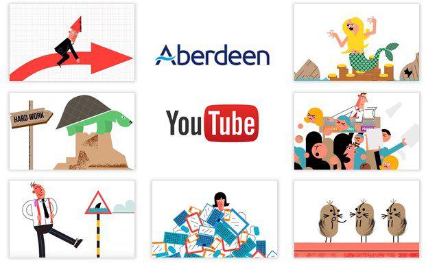 Szenen aus den Mischfonds-Videos von Aberdeen Asset Management