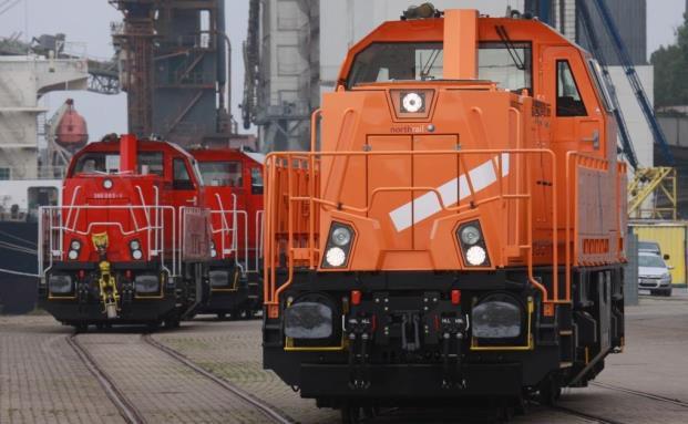 Eine Lokomotive vom Typ Voith Gravita der Vermietungsgesellschaft Northrail im Hafeneinsatz (Quelle: Paribus Capital)