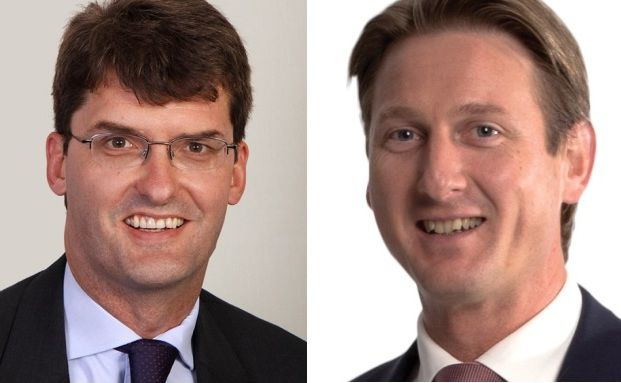 George Cheveley und Hanre Roussow (v. li.), Manager des Fonds Investec Global Gold
