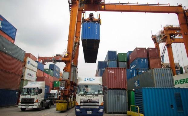 Containerterminal im Hafen von Hong Kong (Foto: Getty Images)