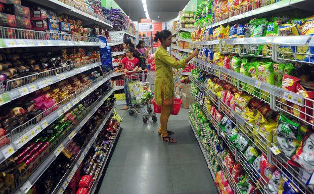 Internet-Einzelhändler profitieren von wenigen Supermarkt- und Einzelhandelsketten in Indien. (Foto: Getty Images, Indranil Mukherjee)