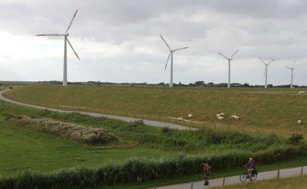 Windräder an der deutschen Nordseeküste: was bedeutet das Ergebnis der Bundestagswahl für die Energiewende? (Fotot: Getty Images)