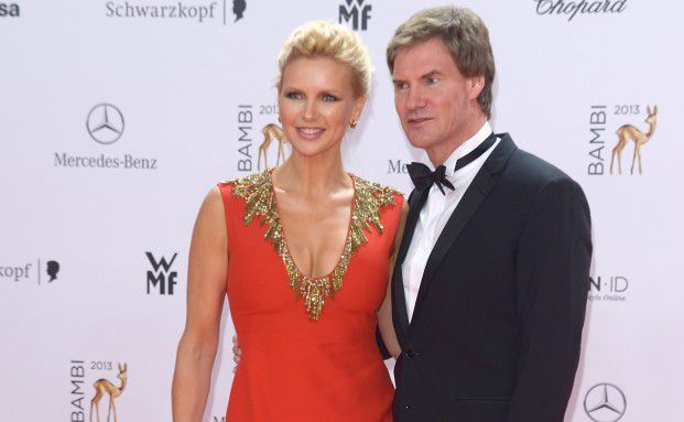 Carsten Maschmeyer mt seiner Verlobten Veronica Ferres im November 2013 bei den Bambi-Awards in Berlin. Foto: Luca Teuchmann / Getty Images