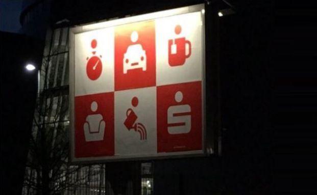 Was will uns diese Sparkassen-Werbung sagen? Screenshot von der Twitter-Seite, Quelle: Thorsten Hahn