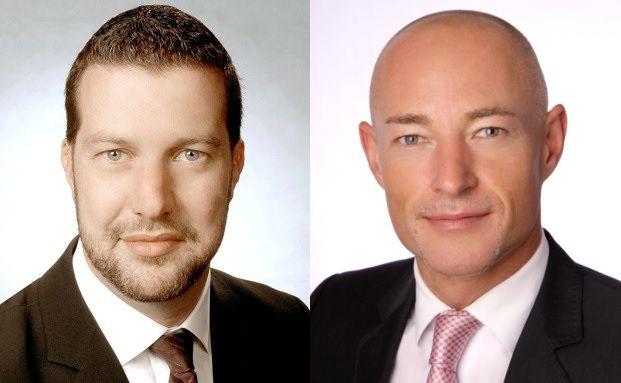 Stephan Schörnig und Markus Knab vom Bankhaus Ellwanger & Geiger