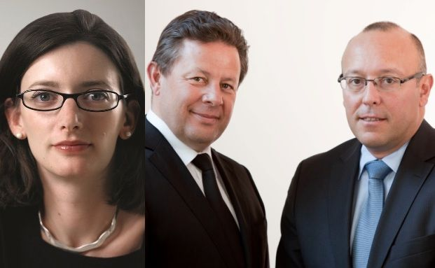 Jahresbeste: Invesco-Managerin Stephanie Butcher, Rothschild-Duo Didier Bouvignies and Philippe Chaumel (v.li.)