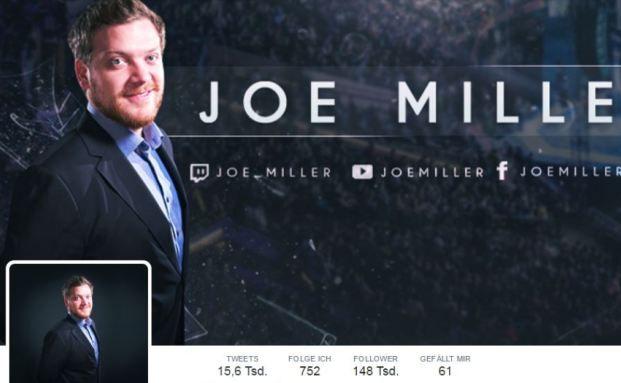 Screenshot der Twitter-Seite von Joe Miller