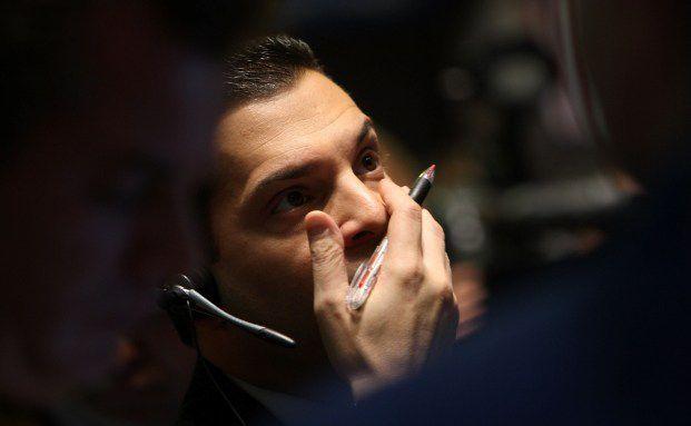 B&ouml;rsenh&auml;ndler der New York Stock Exchange: Auch beim<br>Crash gewinnen - das soll mit dem Multi Asset Portfolio<br>von HDI-Gerling m&ouml;glich sein. Foto: Getty Images