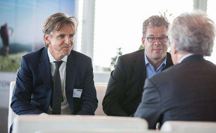 Peter Ehlers, Herausgeber von DAS INVESTMENT.com, und Malte Dreher, Chefredakteur des private banking magazins. Fotos: Christian Scholtysik, Patrick Hipp