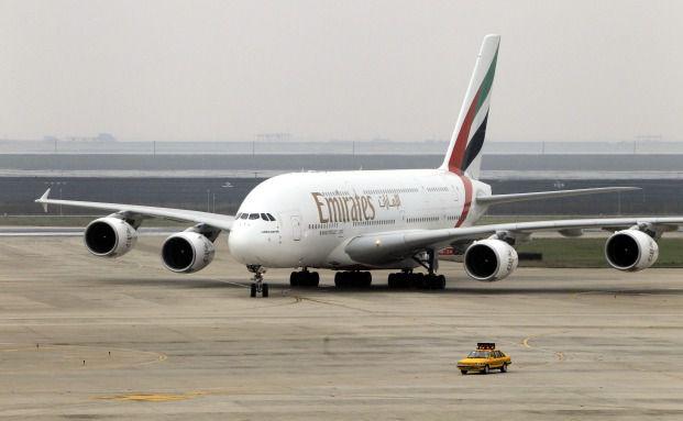 A380 von der Fluggesellschaft Emirates