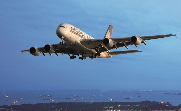 Der A380 von Singapore Airlines
