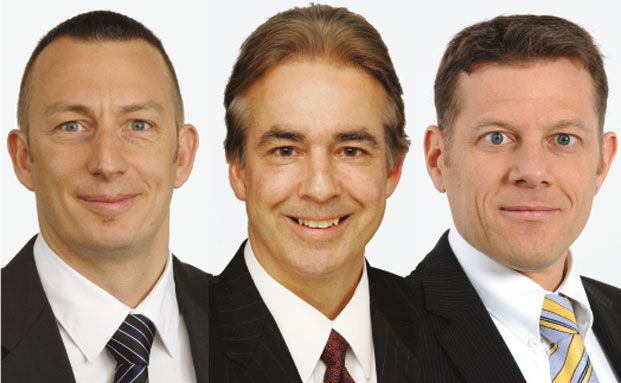 Daniel Wild, Neil Johnson, Rainer Baumann (von links)