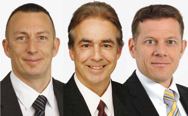 Daniel Wild, Neil Johnson, Rainer Baumann (von links)