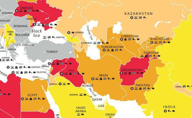 Syrien Karte 2016.Weltkarte Der Politischen Risiken Das Investment