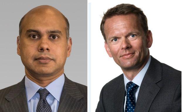Tawhid Ali, Investmentchef europäische Aktien, und Jorgen Kjaersgaard, Leiter des europäischen Kreditmanagements, beide AB