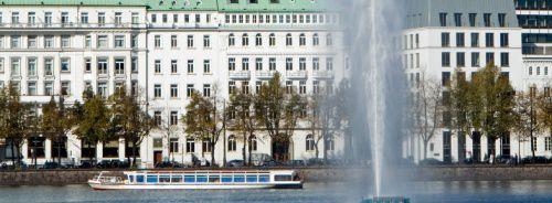 Auch die Fontäne an der Hamburger Binnenalster <br> wurde von einer Stiftung finanziert.  Quelle: Fotolia