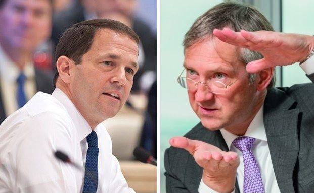 Chefs von zwei der zehn besten europäischen Fondsboutiquen. Foto rechts: Jürgen Bindrim
