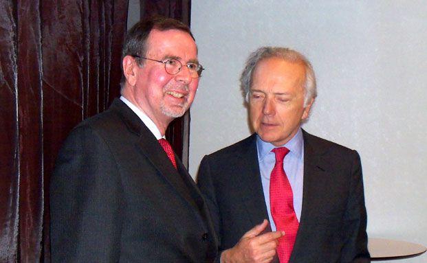 Klaus Kaldemorgen (links) und Edouard Carmignac<br>(Foto: Andreas Scholz)