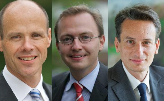 Von links nach rechts: Thomas Gerber, Patrick Dahmen und Etienne Bouas-Laurent.