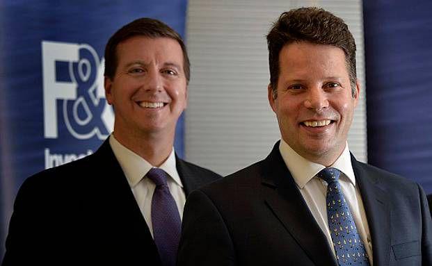 Barry McInerney, Co-Geschäftsführer der Bank of Montreal (links) und F&C-Geschäftsführer Richard Wilson (Foto: Bank of Montreal)