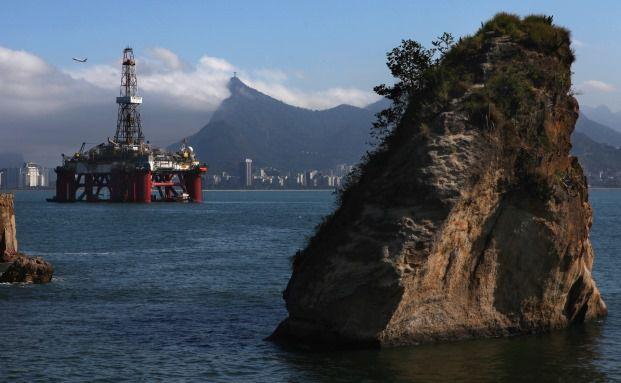 Unterwasser-Ölbohrplattform am Zuckerhut: Auch wenn Brasilien vor schwierigen Zeiten steht – einzelne, sorgfältig ausgewählte Aktien bieten dennoch Chancen. Foto: Getty Images.
