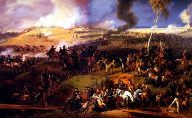 """""""Die Schlacht von Borodino am 7. September 1812"""" <br> von Louis Lejeune (1822). Die in Lew Tolstois """"Krieg und <br> Frieden"""" beschriebene Schlacht habe Parallelen <br> zur derzeitigen Lage, meint von Wallwitz. <br> Quelle: Wikipedia"""